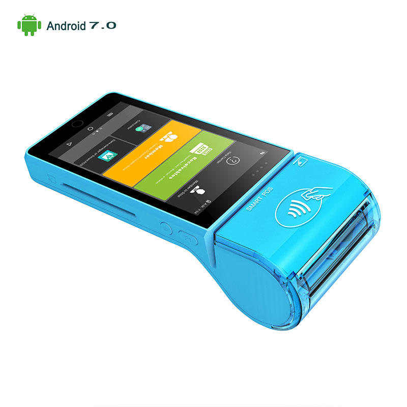 All in One 5.5inch Portable Handheld Restaurant Android Wireless Payment POS Terminal with Printer KS-MA