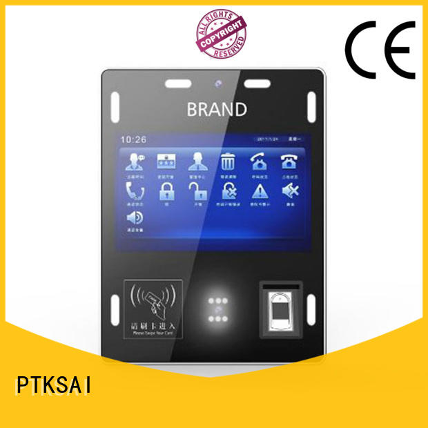 PTKSAI ksg kiosk sign in with barcode scanner for access control