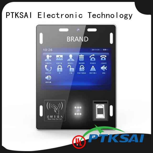 PTKSAI facial or finger sign in kiosk nfc for identity verification