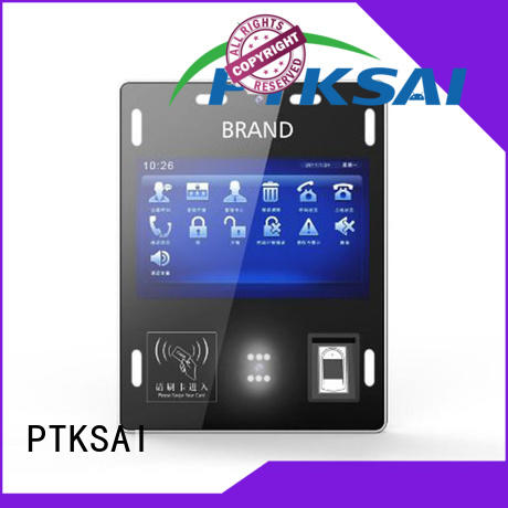 PTKSAI wall mounted facial recognition access control nfc for attendance