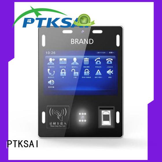 touch screen access control card reader with camera for identity verification