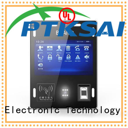 PTKSAI touch screen visitor management kiosk nfc for identity verification