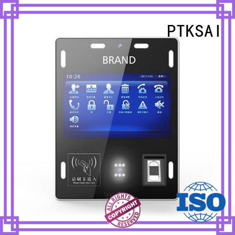 biometric kiosk management system with barcode scanner for access control PTKSAI