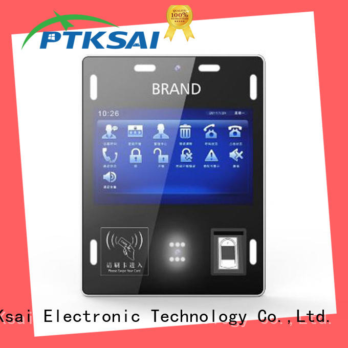 PTKSAI ksg information kiosk with barcode scanner for attendance