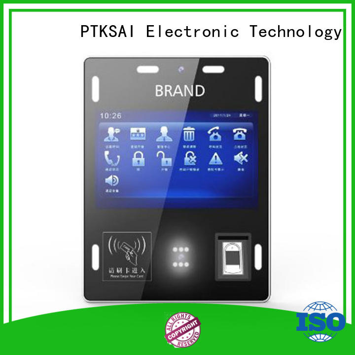 PTKSAI Brand face check-in queuing wallmounted visitor management kiosk