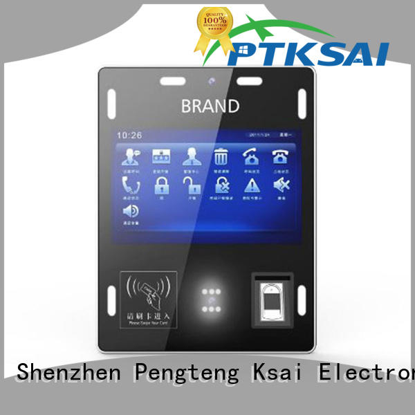 wall mounted airport check in kiosk with barcode scanner for identity verification PTKSAI