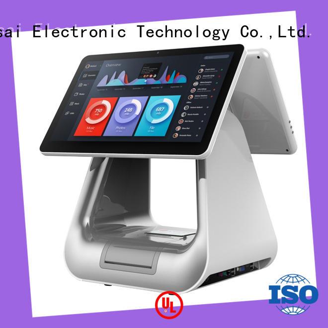 PTKSAI black pos system cash register for payment