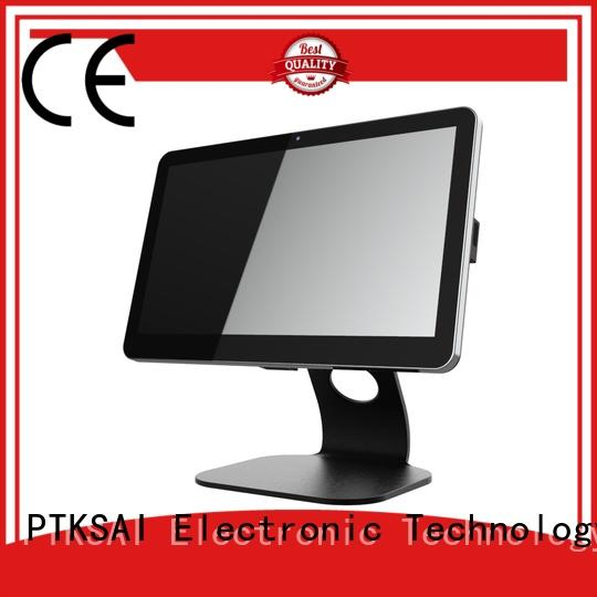PTKSAI dual portable pos system with printer for small business