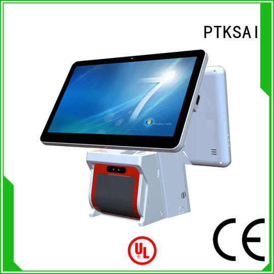 pos all in one touchscreen computer with receipt printer for sale PTKSAI