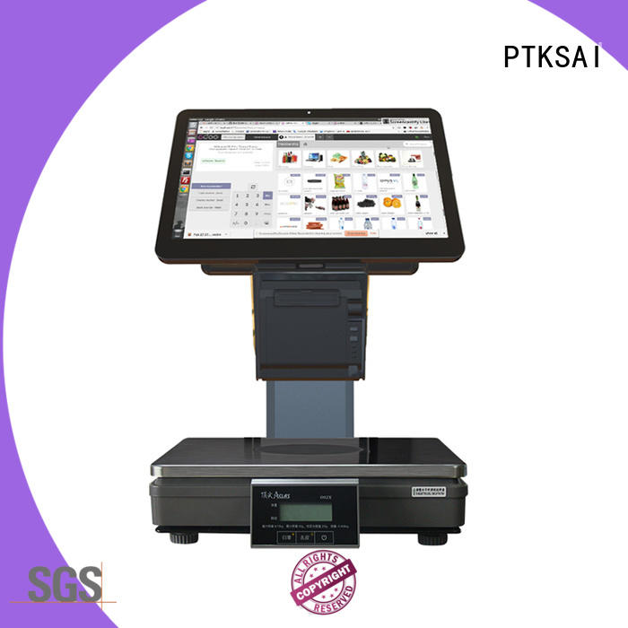 PTKSAI windows pos system with receipt printer for self service