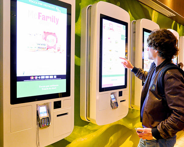 Touch Screen Kiosk for Self Service
