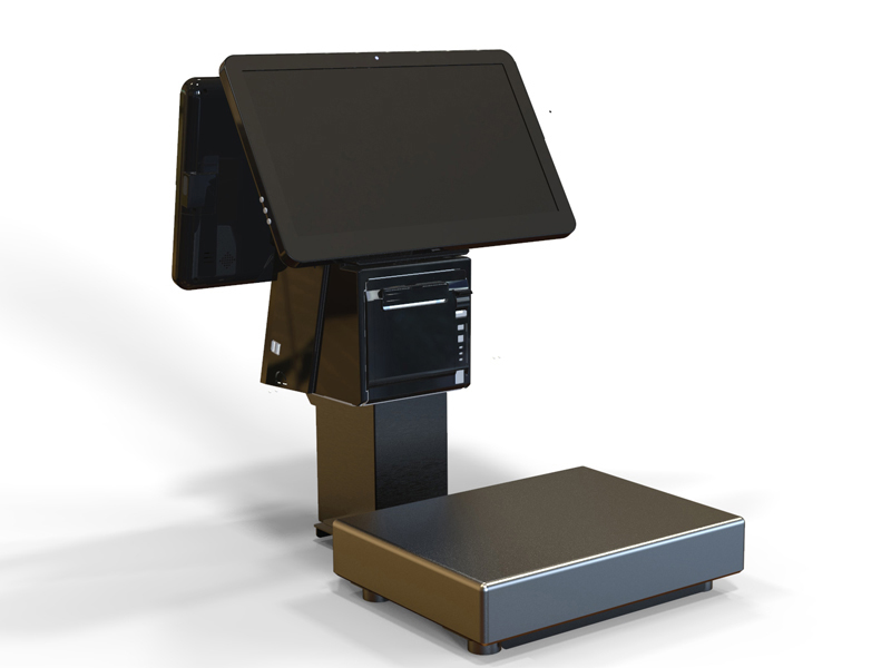 Pos System With Weighing Scale-pos terminal- self-service kiosk-all in one pos-PTKSAI