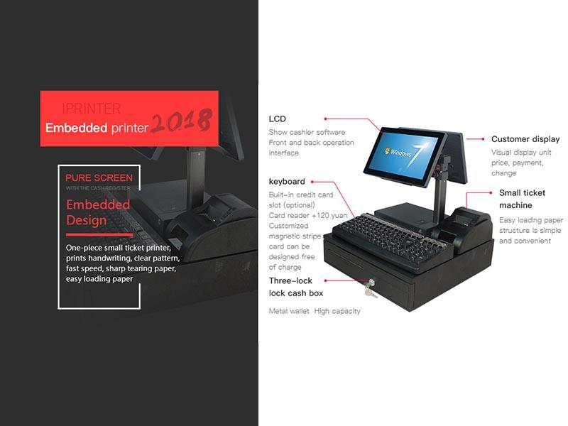 dual mobile pos devices with printer for payment PTKSAI