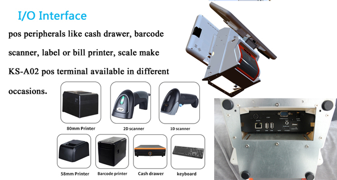 integrated point of sale terminal with receipt printer for payment-6