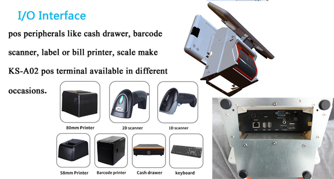 integrated point of sale terminal with receipt printer for payment