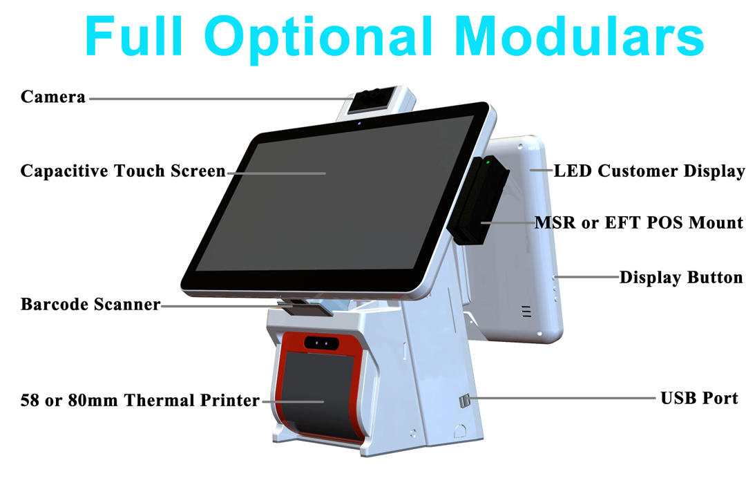 ksa all in one touch pos terminal windows for restaurants PTKSAI