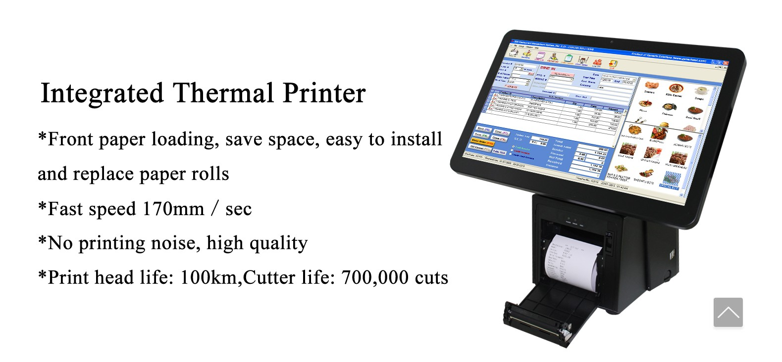PTKSAI pos cash register without auto cutter for payment-5