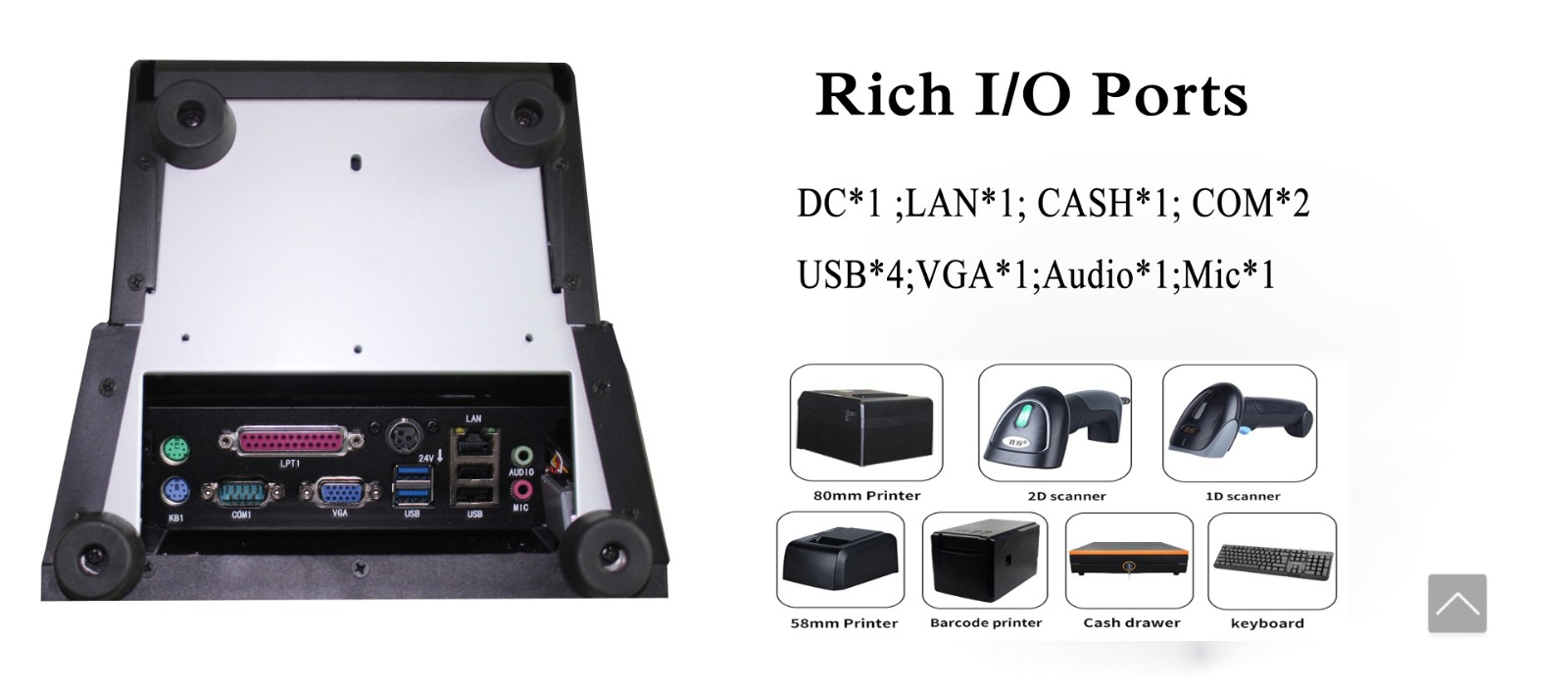 PTKSAI pos cash register without auto cutter for payment-6
