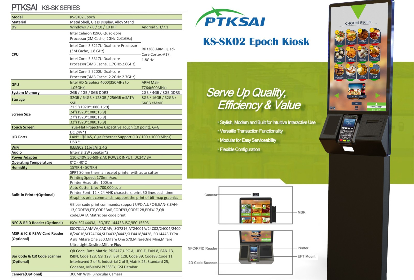 PTKSAI-Eye-catching Design - A Must For Kiosk Terminal