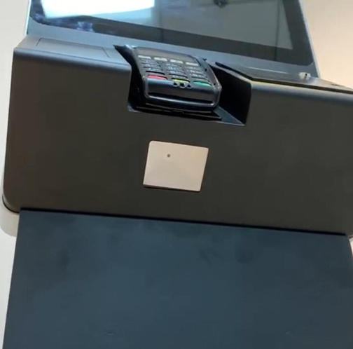 PTKSAI kiosk terminal with fingerprint reader for business
