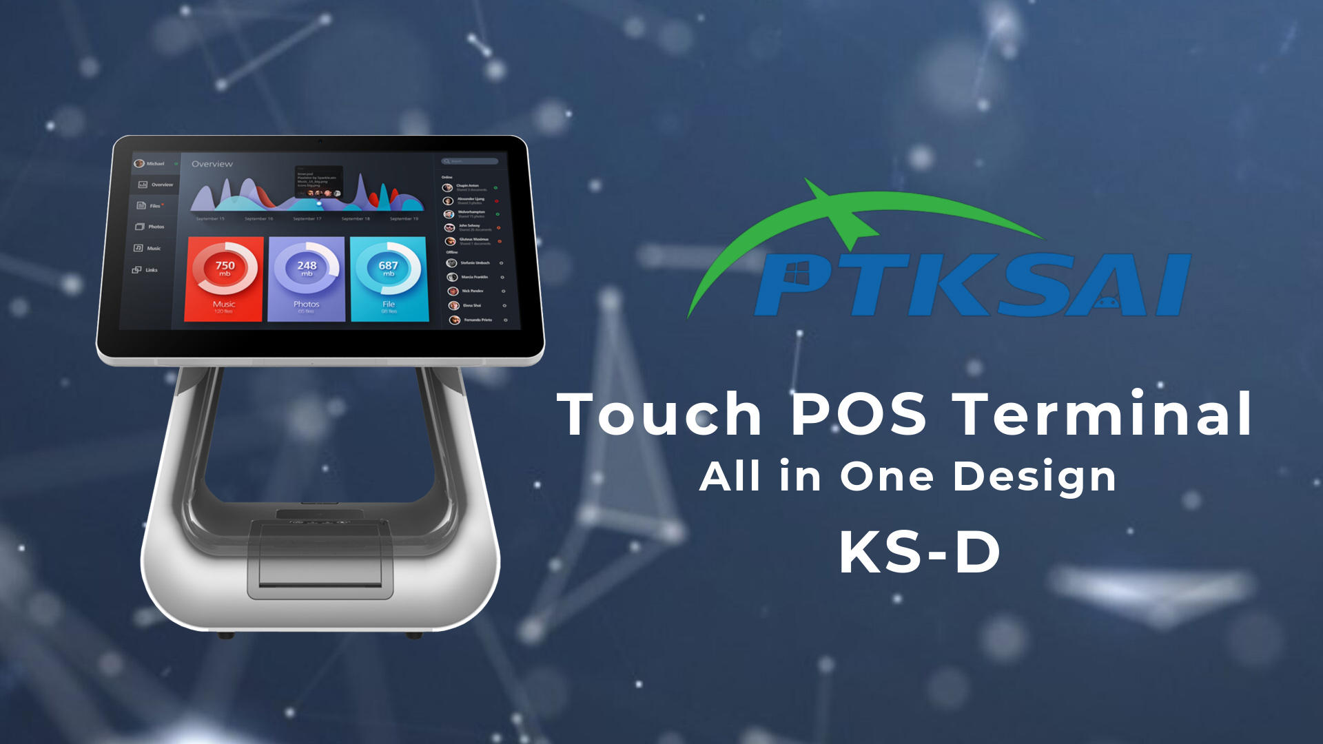 KS-D square pos customer facing display