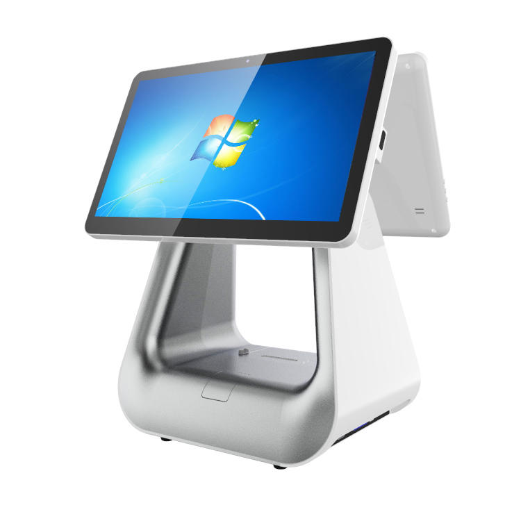 Fashion Windows Dual Screen POS Machine Retail Restaurant All in One Touch Screen POS System