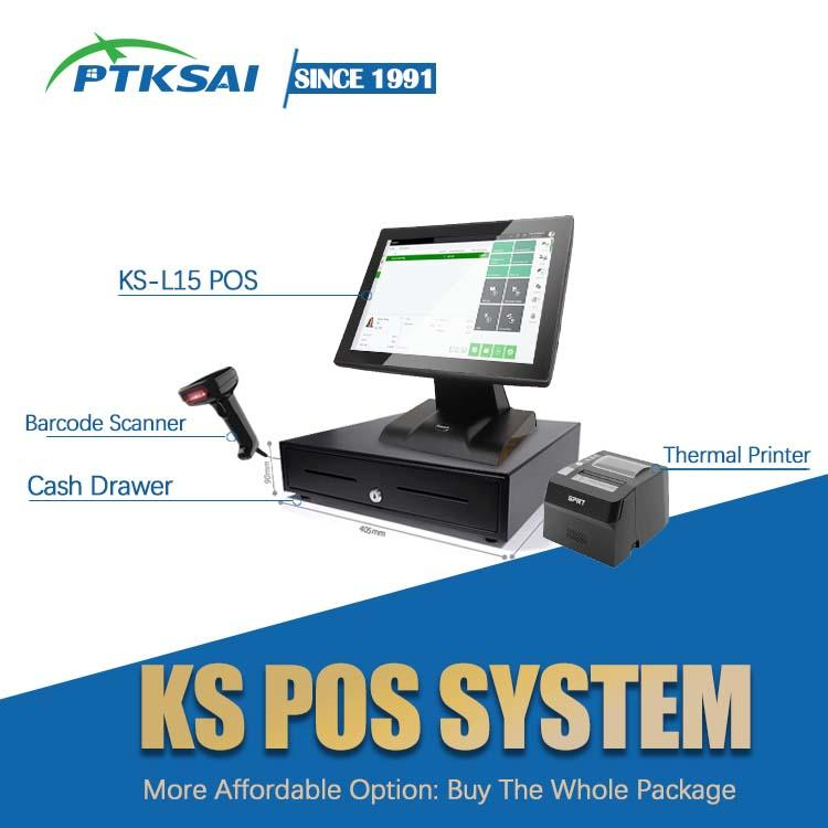 Restaurant Smart 15-Inch Pos Terminal Touch Screen Pos Machine All In One Pos System