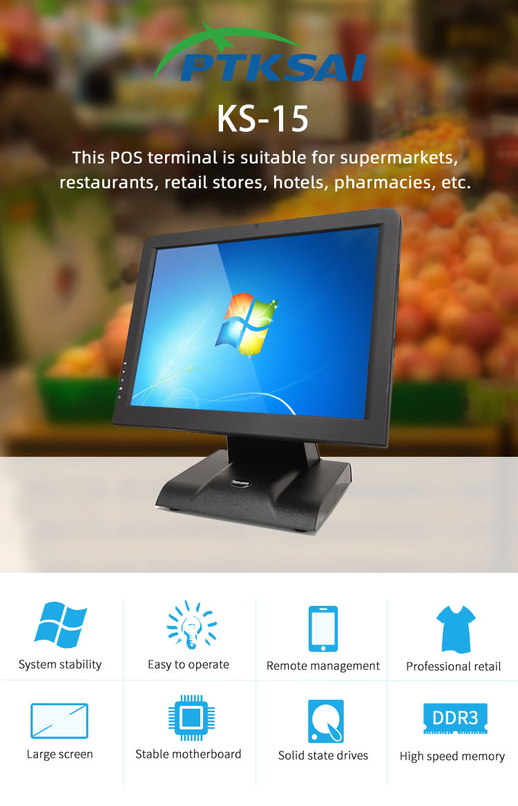 product-PTKSAI-Factory Price All In One 15 Inch Touch Screen Complete Pos Machine Point Of Sale Pos