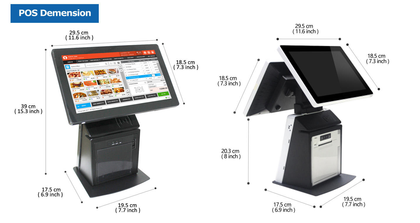 PTKSAI all in one touch pos terminal supplier for promotion
