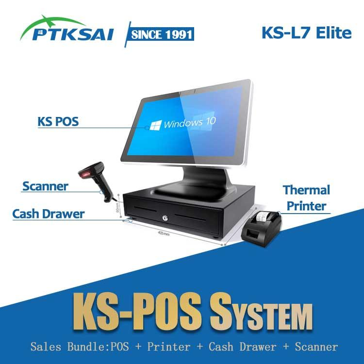 15.6-inch Windows Metal Body Touch Screen POS Terminal  KS-L7 for Retail / Restaurant / Ticket Station