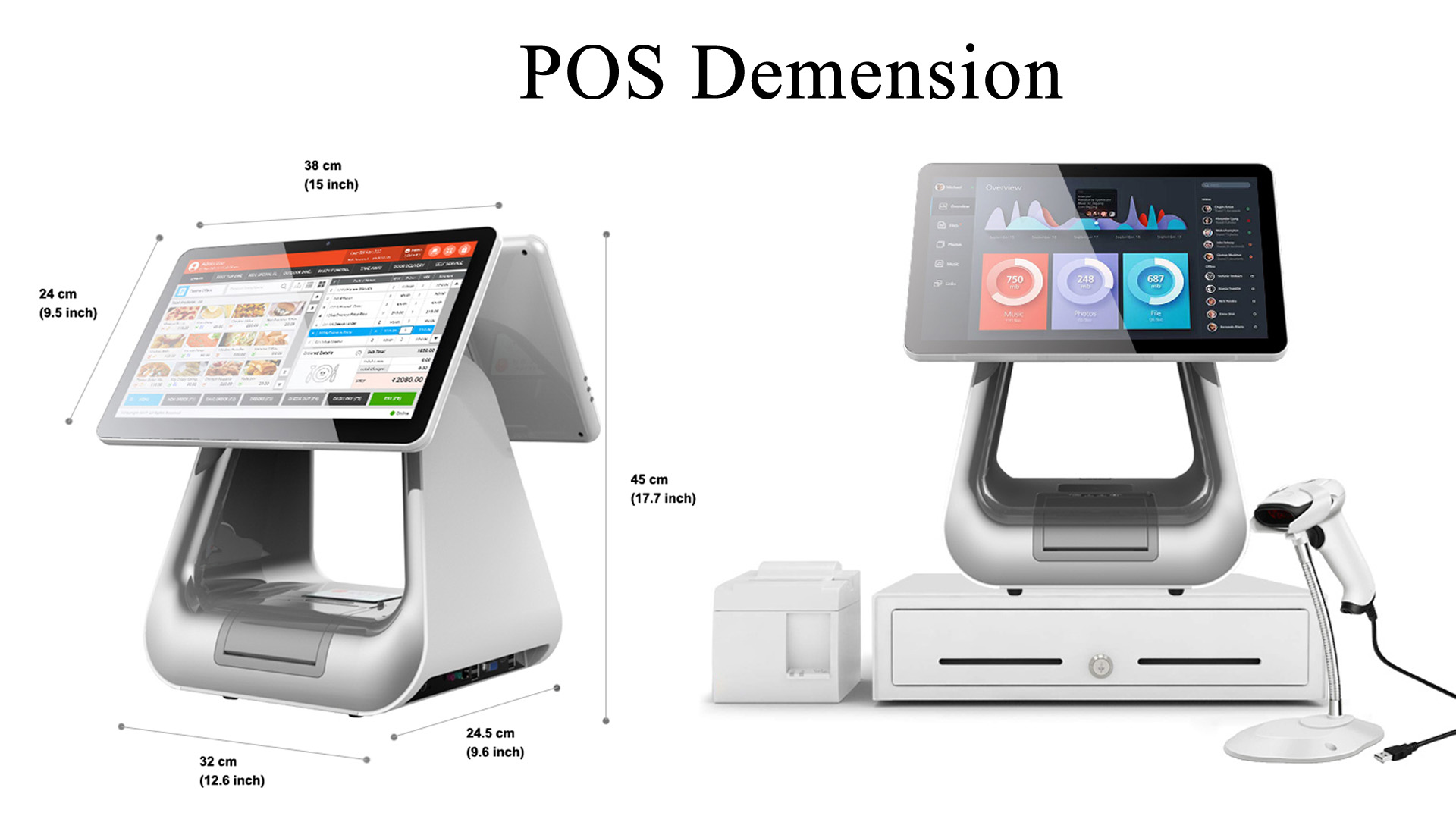 product-156-inch Windows Fashion All in One POS System KS-D for Flagship Store Hotel Shopping Mall-1