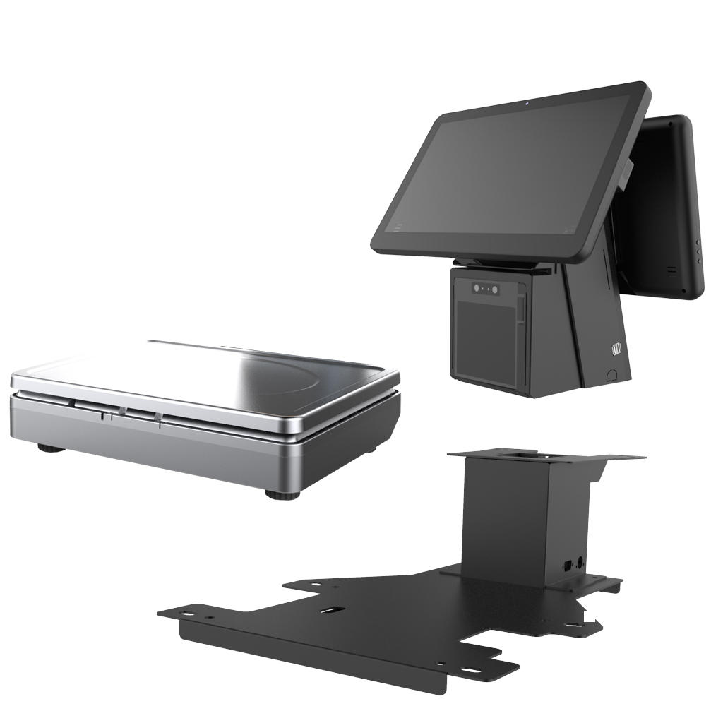 15.6-inch Windows Dual Screen All In One POS Weighing Scale KS-AS for Supermarket / Grocery /  Bakery /  Fruit Store