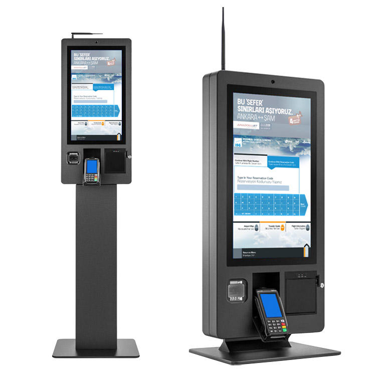 21.5-inch Touch Screen Self Service Ordering & Payment Kiosk KS-SK215 with Receipt Printer, Barcode 2D Code Scanner, Camera