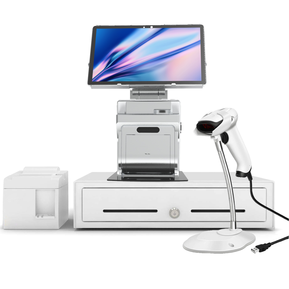 Android Tablet POS System with Integrated Printer