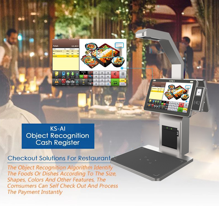 product-PTKSAI-133 Inch Object Recognition Food Recognition Smart Cash Register POS Terminal Self O