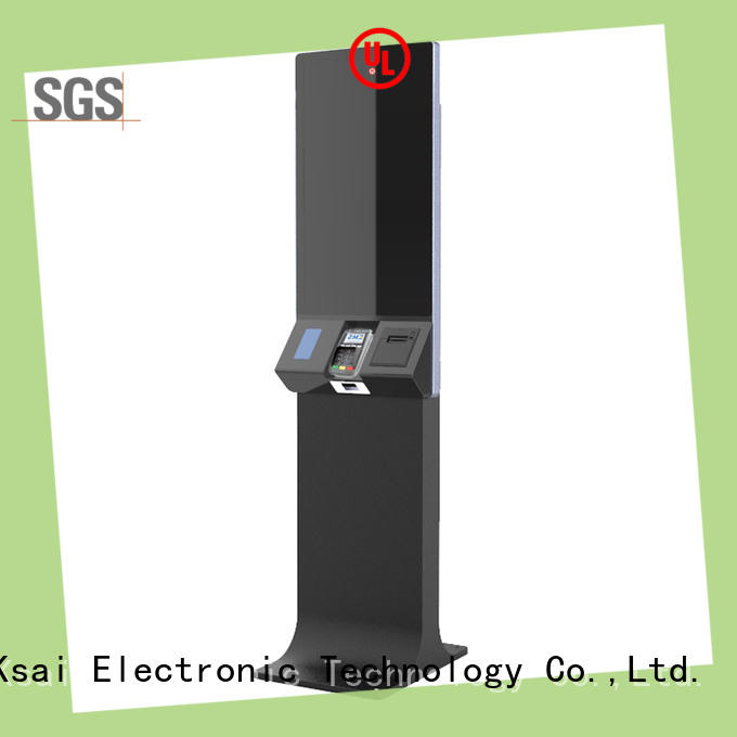 self service pos kiosk with barcode scanner for payment PTKSAI