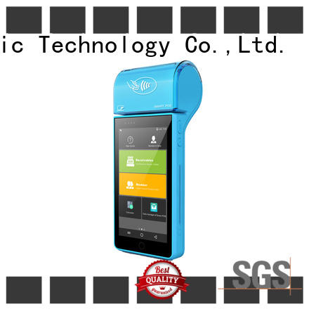 PTKSAI ksf mobile point of sale terminal with printer for restaurants and bars