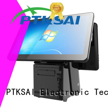 PTKSAI cash drawer with thermal printer for restaurants