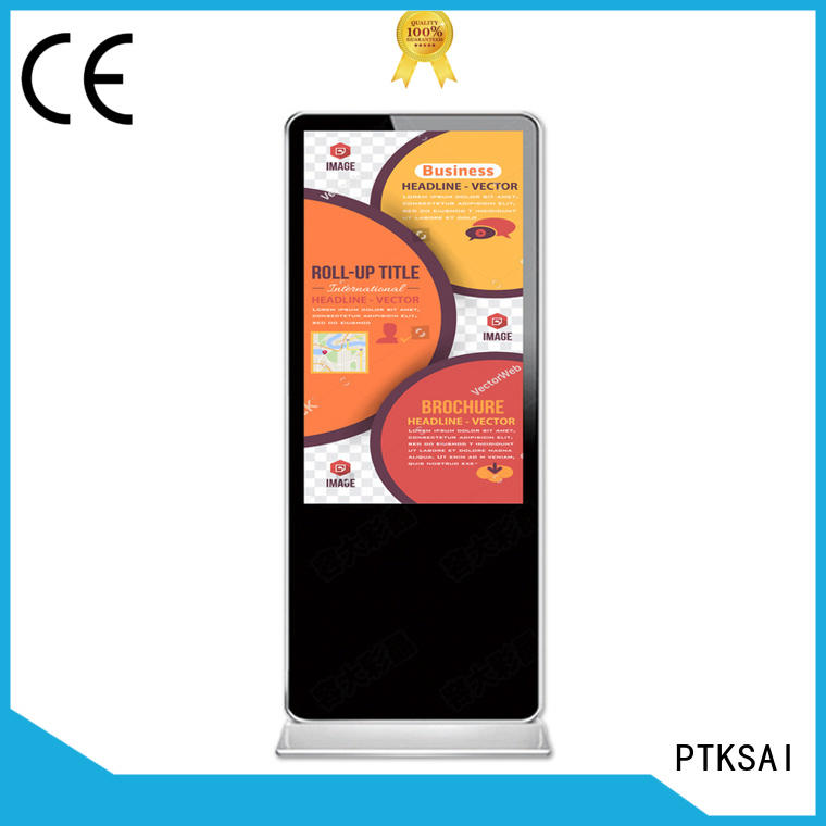 PTKSAI wall mounted digital signage device fhd for advertising
