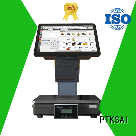 PTKSAI label restaurant cash register weighing scale for self service