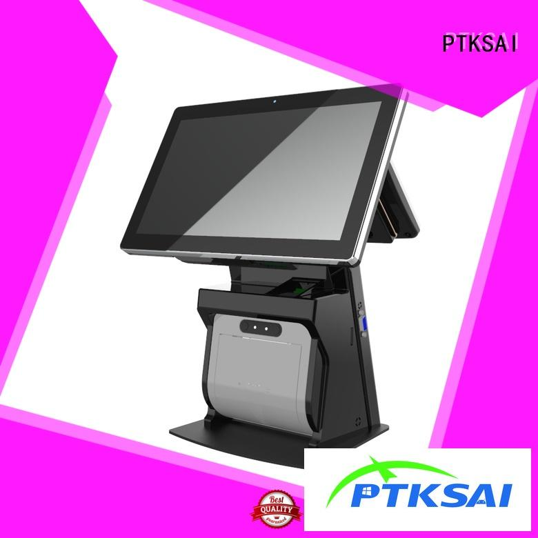 PTKSAI ksa all in one pos machine with barcode scanner for self service