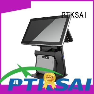 PTKSAI fashion point of sale cash register with auto cutter for restaurants
