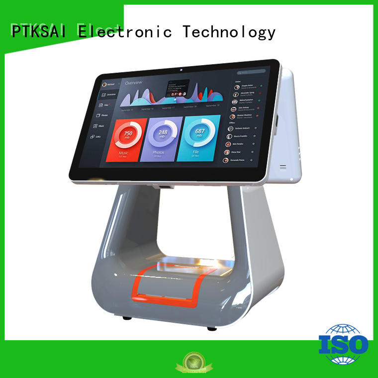 Wholesale machine retail pos machine dual PTKSAI Brand