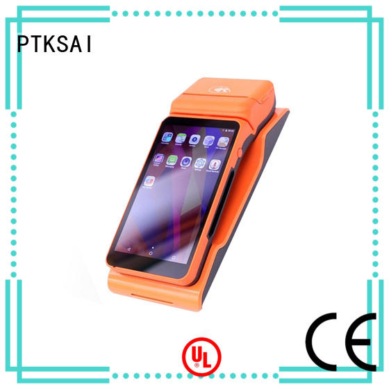 PTKSAI handheld mobile point of sale devices with printer for payment