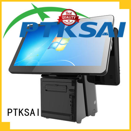 PTKSAI high quality all in one pos pc with barcode scanner bulk production