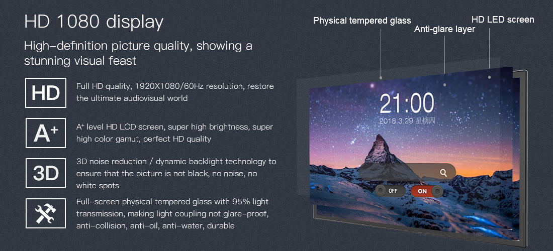 11.6'' or 15.6'' or 21.6'' Wall Mounted Touch Screen LED Panel All In One Tablet PC KS-TS-1