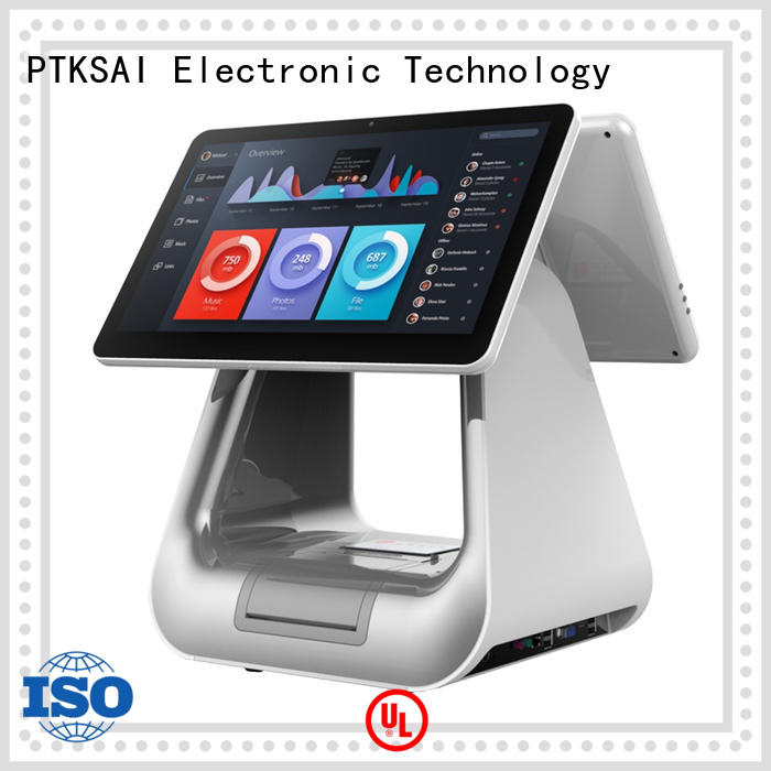 PTKSAI retail pc pos with barcode scanner for sale