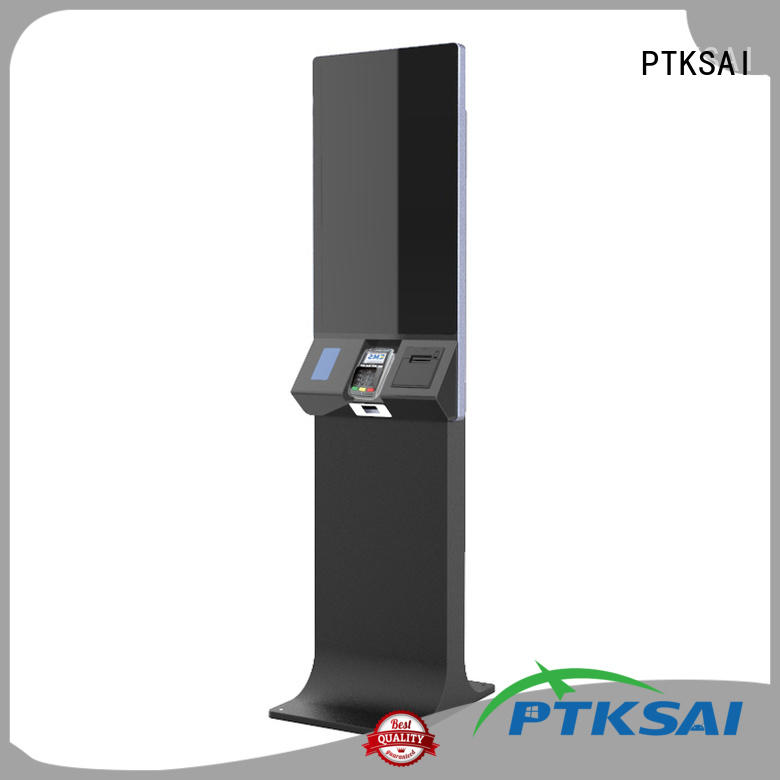 PTKSAI inch airport self-service kiosk with barcode scanner for sale