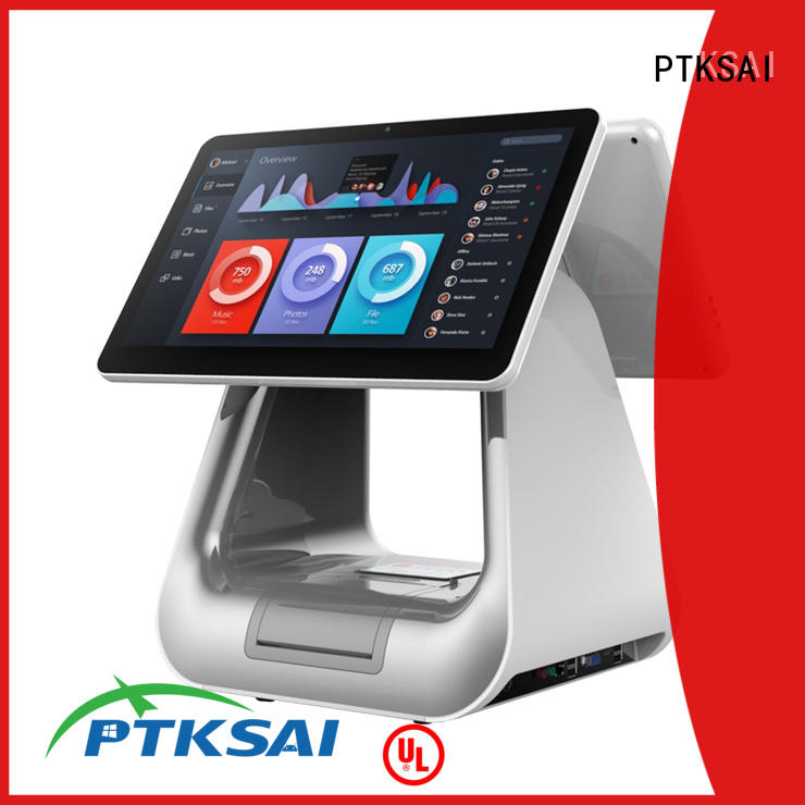 hospitality all in one touch pos terminal with auto cutter for restaurants PTKSAI