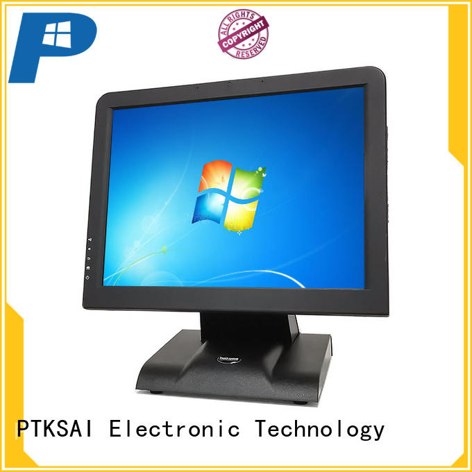 PTKSAI retail touch screen cash register with thermal printer for restaurants